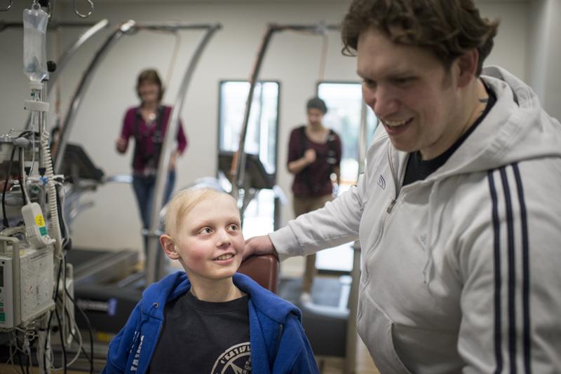 Die Sporttherapie: Momente, in denen krebskranke Kinder ihre Krankheit vergessen …
