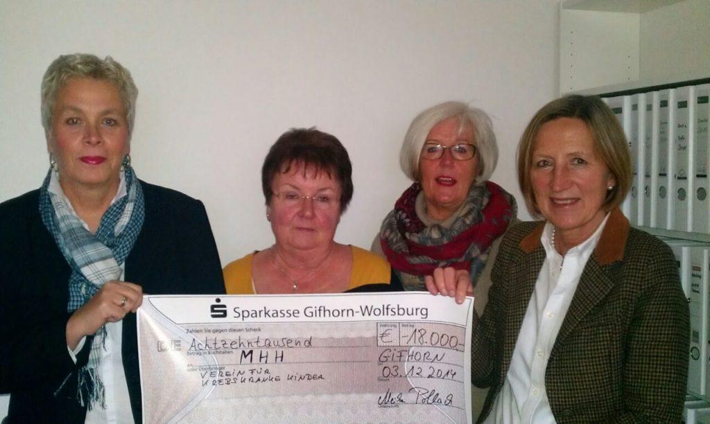 Kinderkrebsfürsorge Gifhorn spendet
