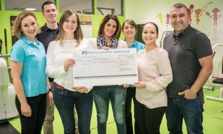 5000 € für Sporttherapie für krebskranke Kinder